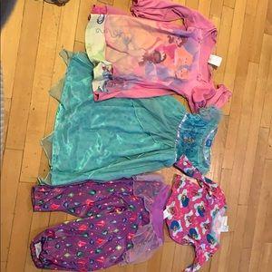 Princess pajamas size 4